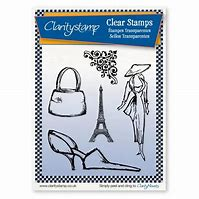 CSCLSTAFA10494-A5 Clearstamp Claritystamp & mask sketchy Paris Fashion