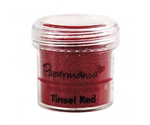 Embossingpoeder Tinsel red
