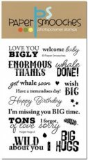 Huge Hugs wordsClearstempel Paper Smooches