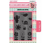 Ushi animation stamp Growing garden